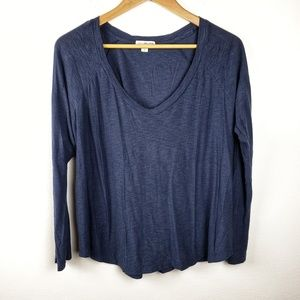 James Perse Tops - James Perse | Navy Blue Standard Pullover Shirt 2